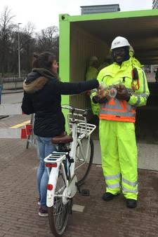 Snoepjesman laat fietsers afstappen