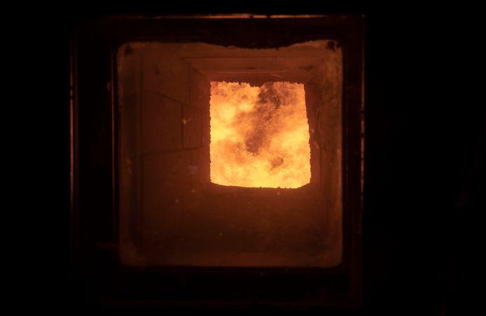 De oven van de Edese biomassa-centrale