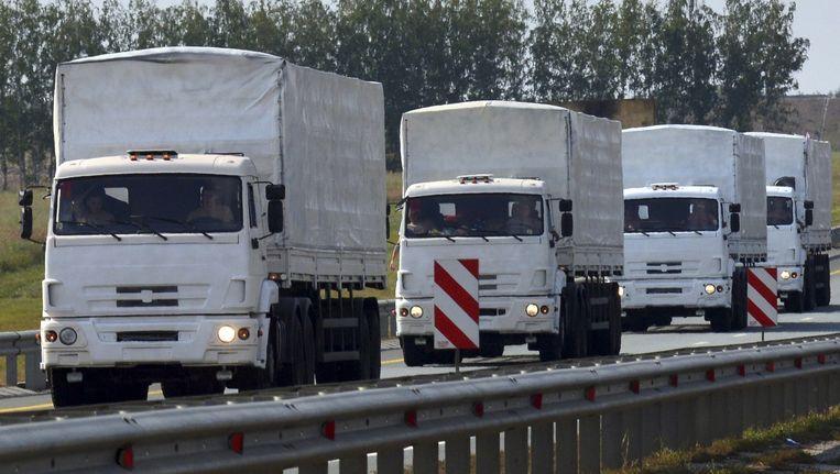 Het Russische konvooi met hulpgoederen. Beeld reuters