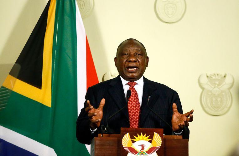 De Zuid-Afrikaanse president Cyril Ramaphosa.  Beeld AFP