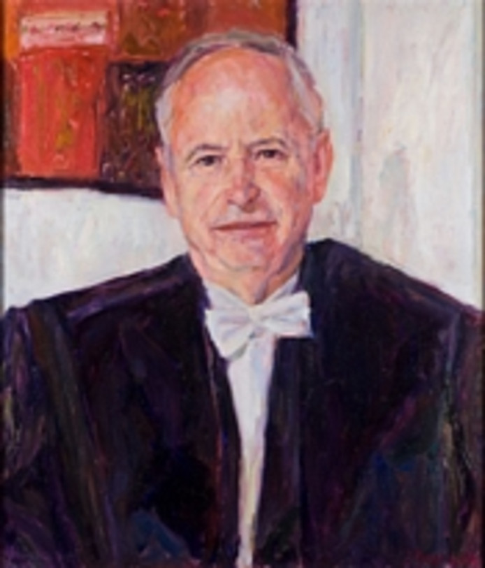 Geschilderd portret van J.J.A. Mooij.