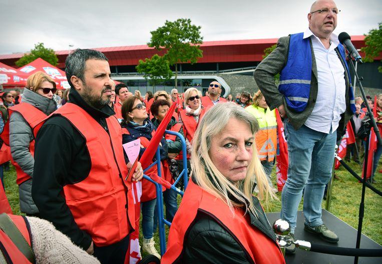 FNV personeel in Utrecht.  Beeld Marcel van den Bergh