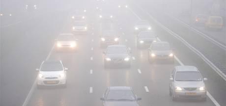 Pas op! Plaatselijk dichte mist in Oost-Nederland