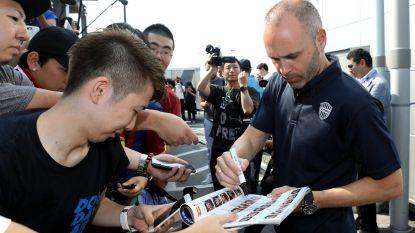 Iniesta wil zondag al debuteren in Japan