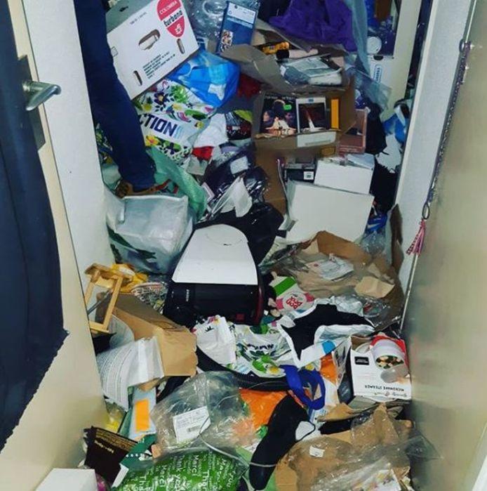 De woning was volgens de politie waar vervuild.