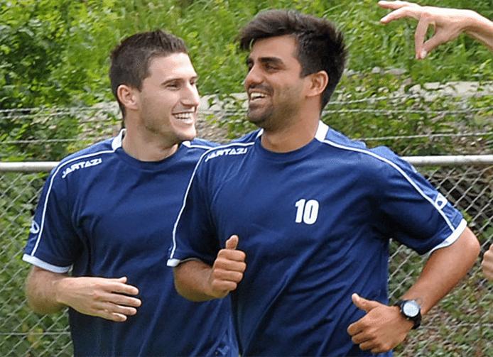 Guillaume Clinckemaillie (rechts) met Fabian Wilson.