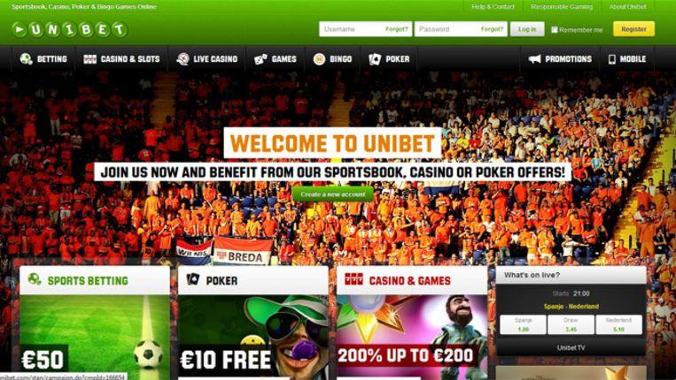Gokwebsite Unitbet.com. Beeld Unibet