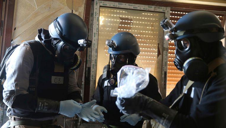 OPCW-inspecteurs in Damascus. Beeld reuters