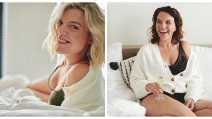 Leyers-zussen en Siska Schoeters schitteren in lingerie