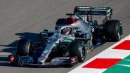 Lewis Hamilton voor het eerst sinds maart weer in een F1-bolide