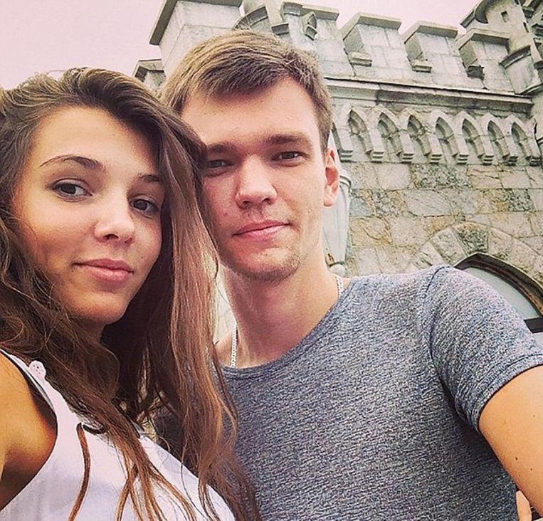 Maria met haar ex Andrey.