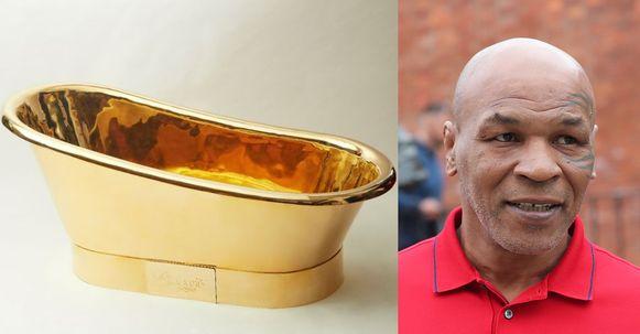 De gouden badkuip van Mike Tyson.