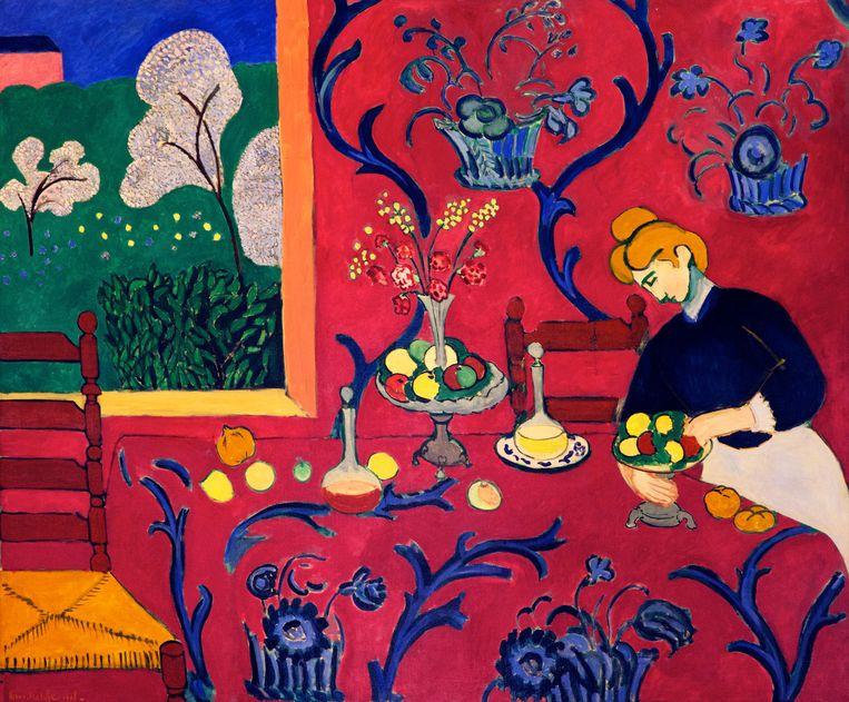 De Rode Kamer (Harmonie in Rood), door Henri Matisse, 1908, De Hermitage, Sint Petersburg, Rusland. Beeld Alamy Stock Photo