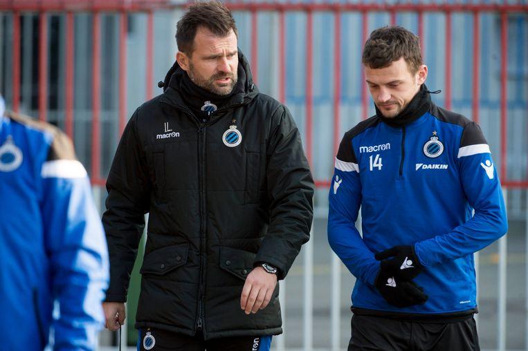 Tomecak met coach Leko.