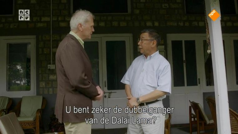 Van Dis en de dalai lama Beeld NPO 2