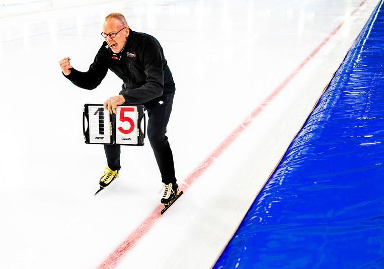 Geert Kuiper, de Nederlandse coach van Canada.  Beeld Klaas Jan van der Weij
