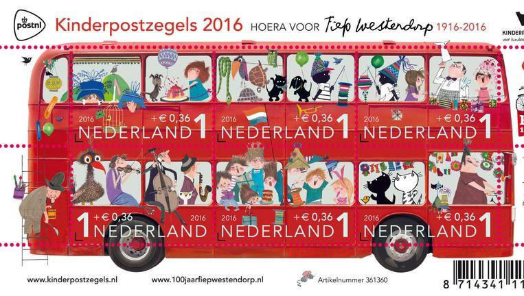 De kinderpostzegels anno 2016. Beeld