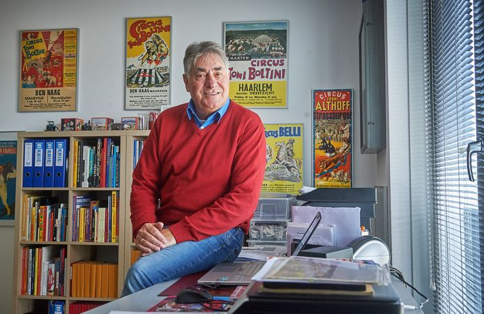 Henk van den Berg uit Oss weet alles van het Circus en organiseerd komend weekend een symposium over het circus. Fotograaf: Van Assendelft/Jeroen Appels