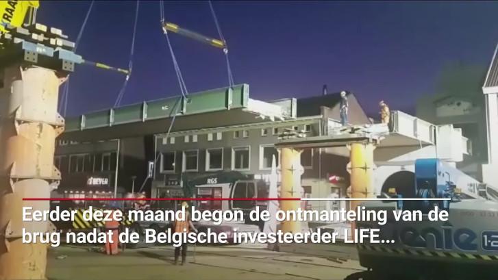 Historische loopbrug uit Enschede verwijderd