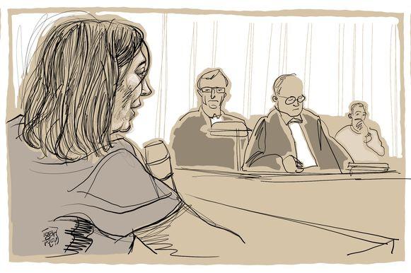 Sarah Delanghe, een goede vriendin van Tine Nys, getuigde vandaag op het euthanasieproces.