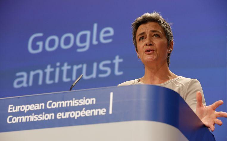 Europees Commissaris Margrethe Vestager.