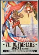 Plakat von Olympia 1920 in Antwerpen, Belgien,  von August bis September