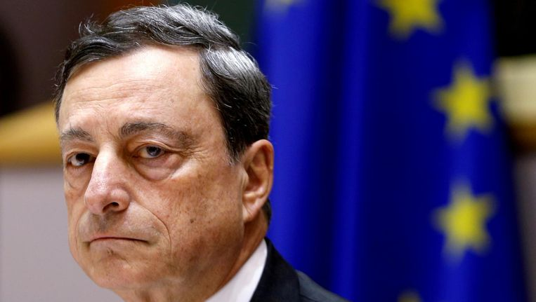 ECB President Mario Draghi Beeld null
