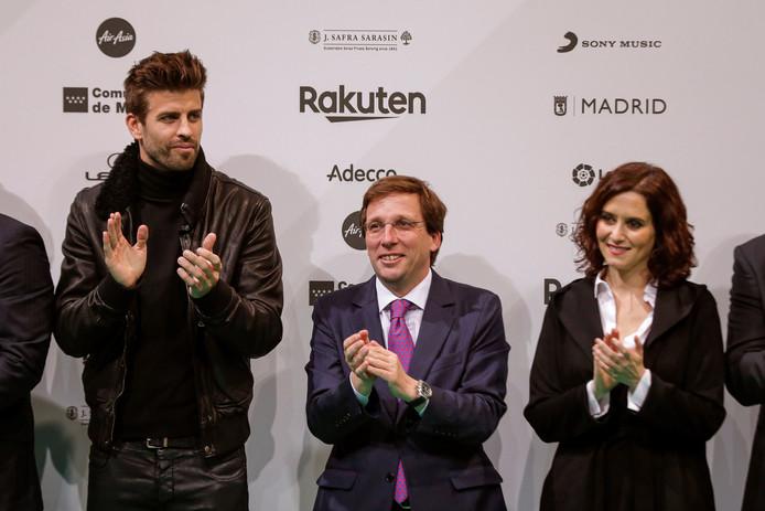 Gerard Pique (links), eigenaar van Kosmos, sloot met de Spaanse bond een deal om de Spaanse Supercup in Saudi-Arabië te laten spelen.