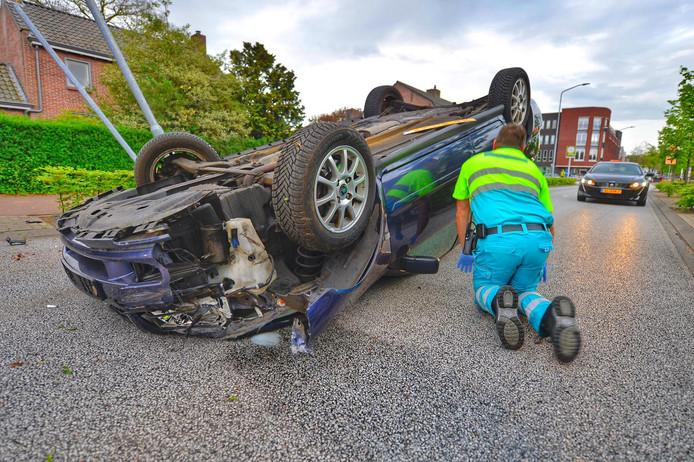 Een vrouw is gewond geraakt na een crash in Eersel.