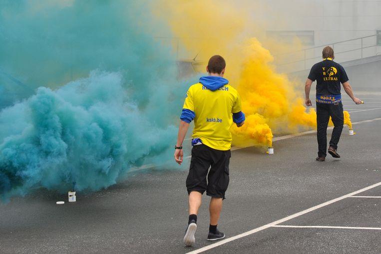 Yellow Blue SK Beveren mag dan wel in 3e provinciale spelen, maar staat bekend en berucht om haar harde kern.