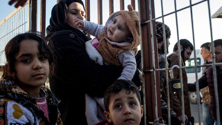 Een vluchtelingenfamilie in Turkije.