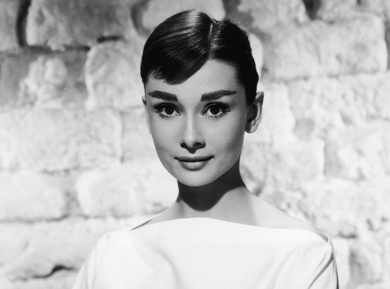 Audrey Hepburn op een foto uit de jaren '50 van de vorige eeuw.