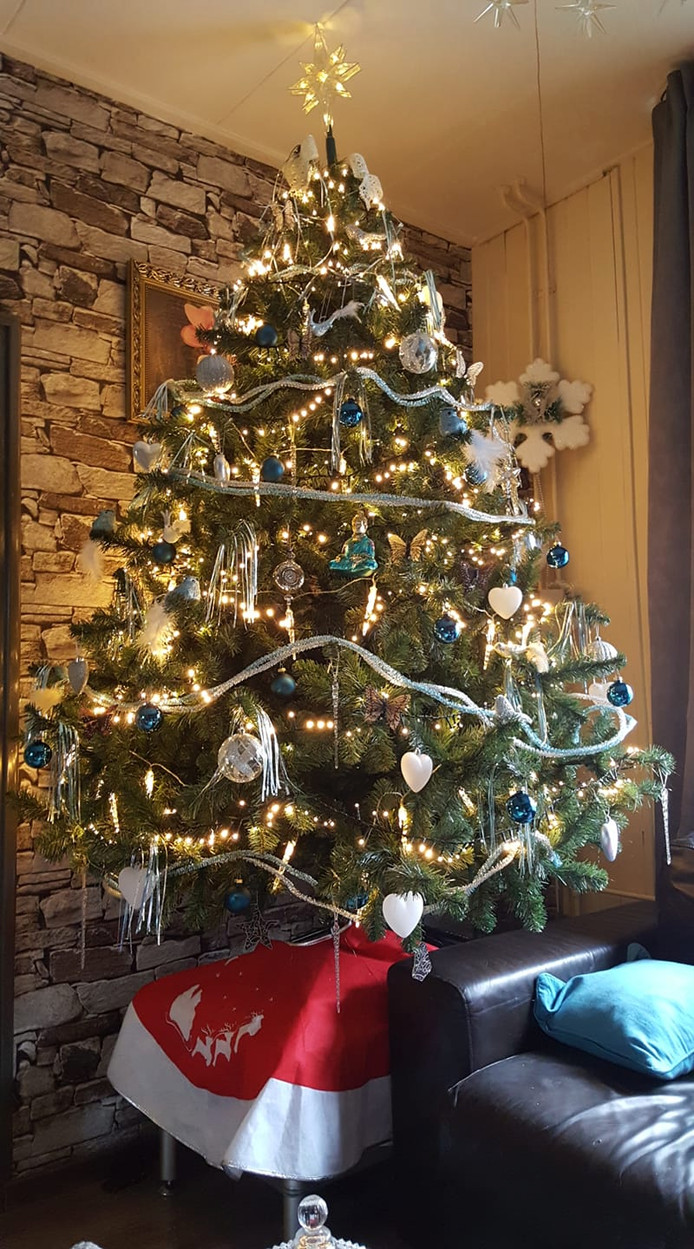 Atie van Tuil -  Hakkenhaar  heeft de boom ook al opgetuigd.