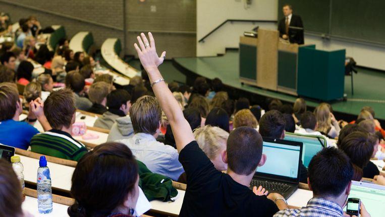 Studenten in een collegezaal Beeld anp