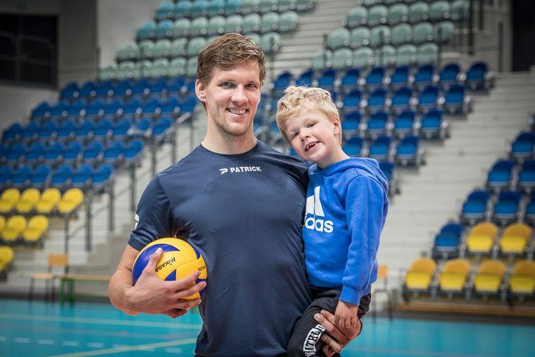 Matthijs Verhanneman met zoontje Vince.