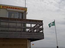 Tijdelijke strandpost bij Cadzand-Bad