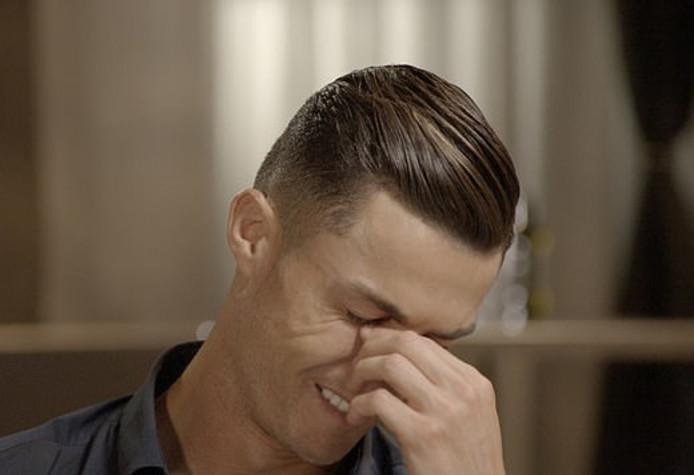 Een geëmotioneerde Ronaldo.