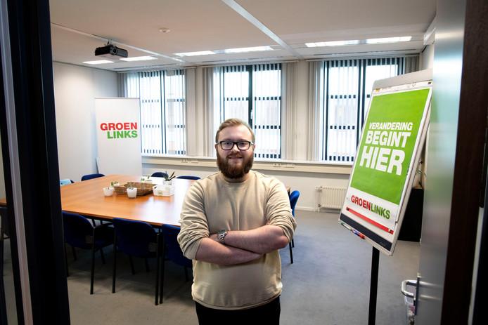 Tim van de Meulengraaf is met zijn 22 jaar het jongste lid van de Helmondse gemeenteraad.