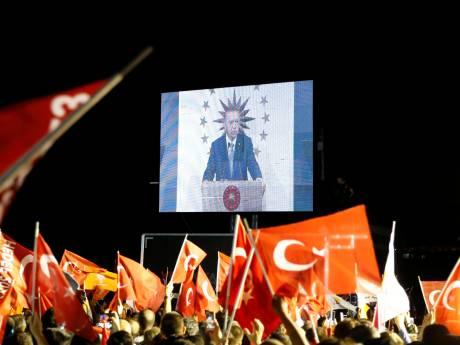 Erdogan eist overwinning in presidentsverkiezing op