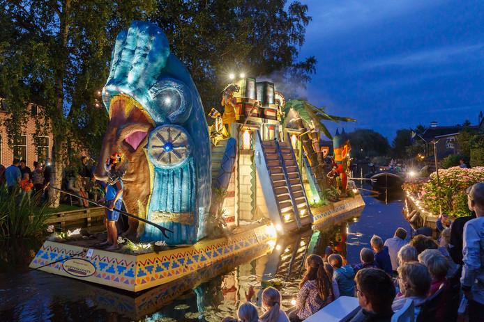 De groep A/S United met 'De legende van Quetzalcoatl' won in Belt-Schutsloot in de categorie Allegorische gondels.