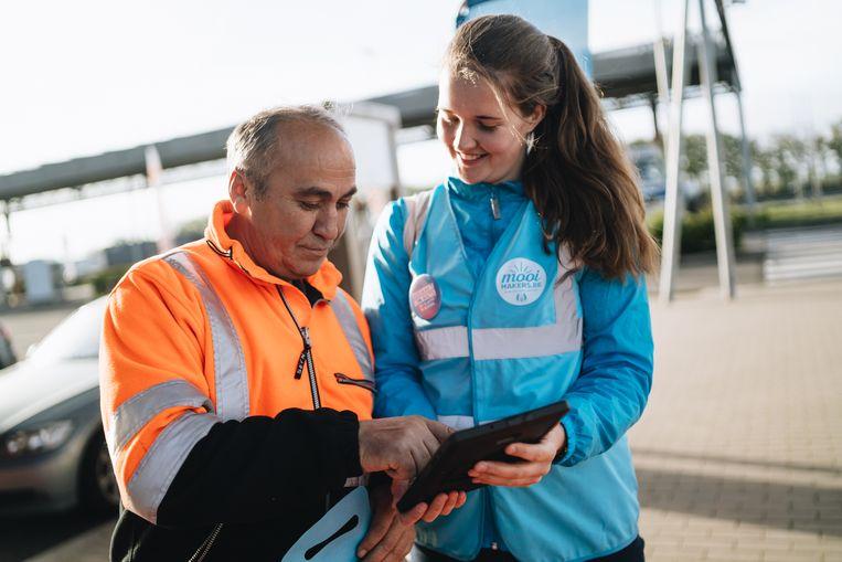 Mooimakers startte zijn nieuwe campagne langs de snelwegparking van de E4O in Groot-Bijgaarden.