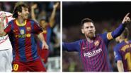 VIDEO. Zijn 600ste was een meesterwerk, maar hoe vierde Messi zijn vorige mijlpalen?