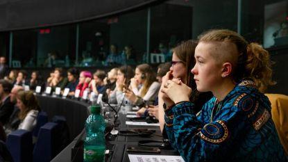 Klimaatjongere is een bont type, blijkt in het Europees Parlement in Straatsburg