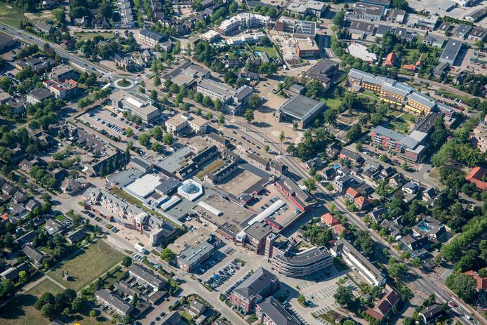 Luchtfoto van het centrum van Malden.