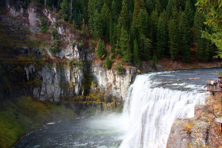 De indrukwekkende Upper Mesa Falls. Beeld Corinne van Duin