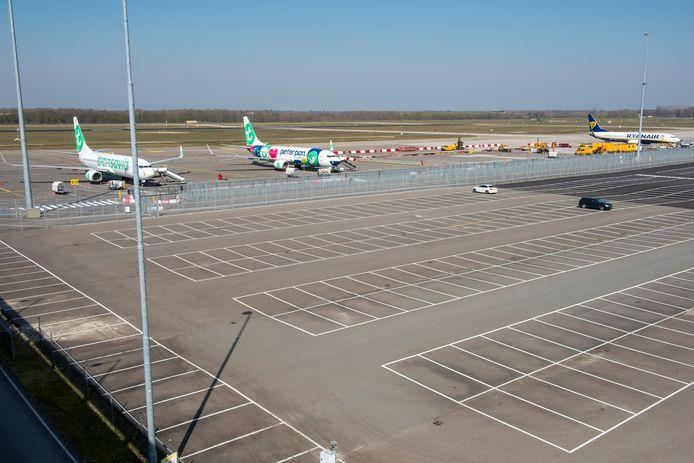 Eindhoven Airport oogt uitgestorven in coronatijd.