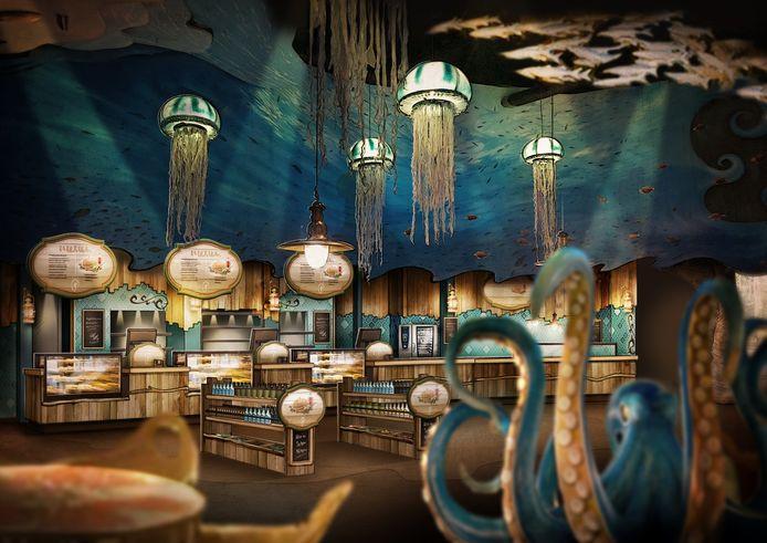 Het restaurant van de nieuwste Efteling-attractie Fabula.