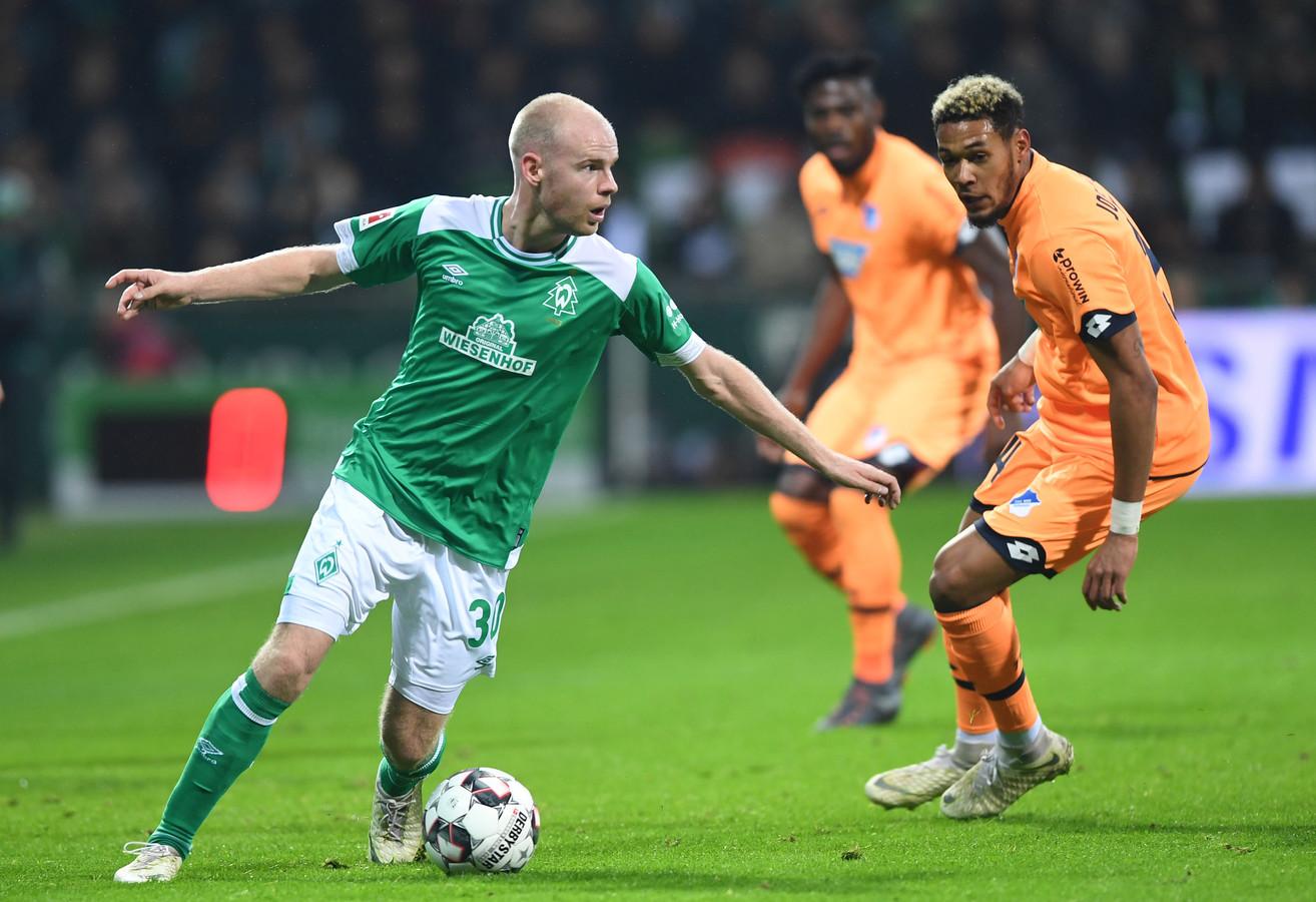 Davy Klaassen in actie namens Werder Bremen.