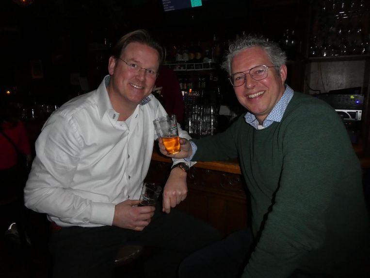 Tom Vermeer (Aspire Drinks, gezondheidsproducten op basis van groene thee) en Hanno Driesser (Lab701).