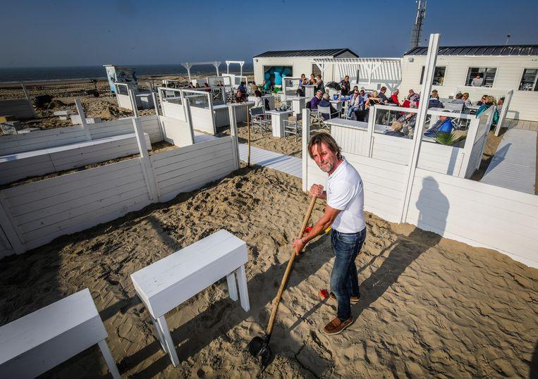 Fabrice Noncle van beachbar Tiki Beach in Middelkerke
